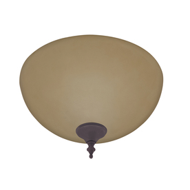 Hunter Builder 2-Light New Bronze and Antique Brass Fluorescent Ceiling Fan Light Kit with Frosted Glass