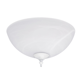 Hunter 2-Light White Ceiling Fan Light Kit with Swirled Marble Shade