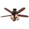 Hunter 54-in Cortland New Bronze Ceiling Fan with Light Kit