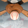 Hunter Baseball 44-in Leather Look Downrod Mount Indoor Ceiling Fan with Light Kit (4-Blade)