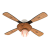 Hunter 44-in Baseball Leather Look Sports Ceiling Fan with Light Kit