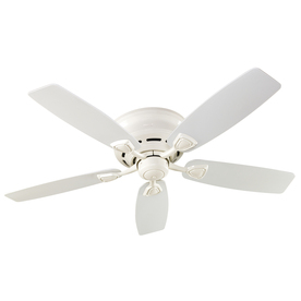Hunter Sea Wind 48-in White Flush Mount Indoor/Outdoor Ceiling Fan
