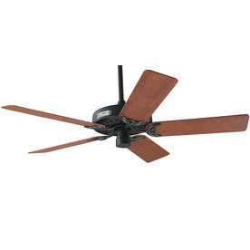 Prestige by Hunter Original 52-in Antique Black Downrod Mount Ceiling Fan ENERGY STAR