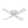 Hunter 42-in Low Profile III White Ceiling Fan