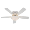 Hunter 48-in Low Profile Plus White Ceiling Fan with Light Kit