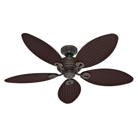 Hunter 54-in Bayview Provencal Gold Outdoor Ceiling Fan ENERGY STAR