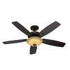 Hunter 52-in Eco-Air LED Onyx Bengal Bronze Ceiling Fan with Light Kit