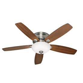 Hunter 52-in Low Profile IV Plus LED Antique Pewter Ceiling Fan with Light Kit