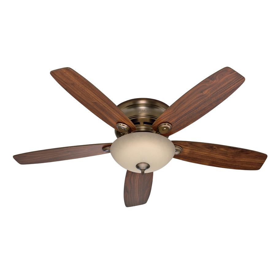Hunter Low Profile Ceiling Fan Light Kit : Hunter in low profile iv plus led brushed bronze