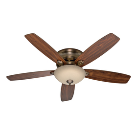 Hunter 52-in Low Profile IV Plus LED Brushed Bronze Ceiling Fan with Light Kit