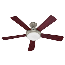hunter 52 in palermo led brushed nickel ceiling fan with light kit and. Black Bedroom Furniture Sets. Home Design Ideas