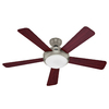 Hunter 52-in Palermo LED Brushed Nickel Ceiling Fan with Light Kit and Remote