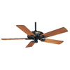 Prestige by Hunter Original Textured Black Outdoor Ceiling Fan (No Blades)