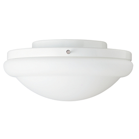 Hunter 1-Light White Ceiling Fan Light Kit with Frosted Glass or Shade ENERGY STAR