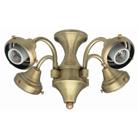 Hunter 4-Light Antique Brass Ceiling Fan Light Kit with Glass Not Included Glass or Shade