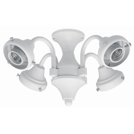 Hunter 4-Light White Ceiling Fan Light Kit with Glass Not Included Glass or Shade