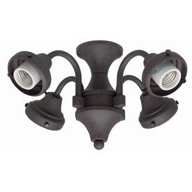 Hunter 4-Light Weathered Bronze Ceiling Fan Light Kit