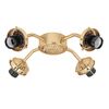 Hunter 4-Light Hunter Bright Brass Ceiling Fan Light Kit with Glass Not Included Glass or Shade