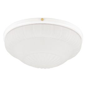 Hunter 2-Light White Ceiling Fan Light Kit with Frosted Rosette Glass or Shade