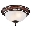Hunter 2-Light Weathered Bronze Ceiling Fan Light Kit with Swirled Marble Shade