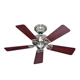 Hunter 42-in Hudson Brushed Nickel Ceiling Fan