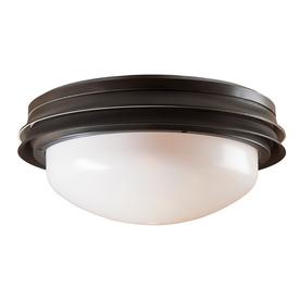 Hunter 2-Light New Bronze Ceiling Fan Light Kit with White Plastic Glass or Shade