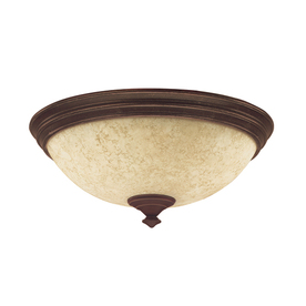 Hunter 2-Light Cocoa Ceiling Fan Light Kit with Scavo Glass or Shade