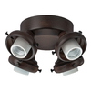 Hunter 4-Light Cocoa Ceiling Fan Light Kit with Glass Not Included Glass or Shade