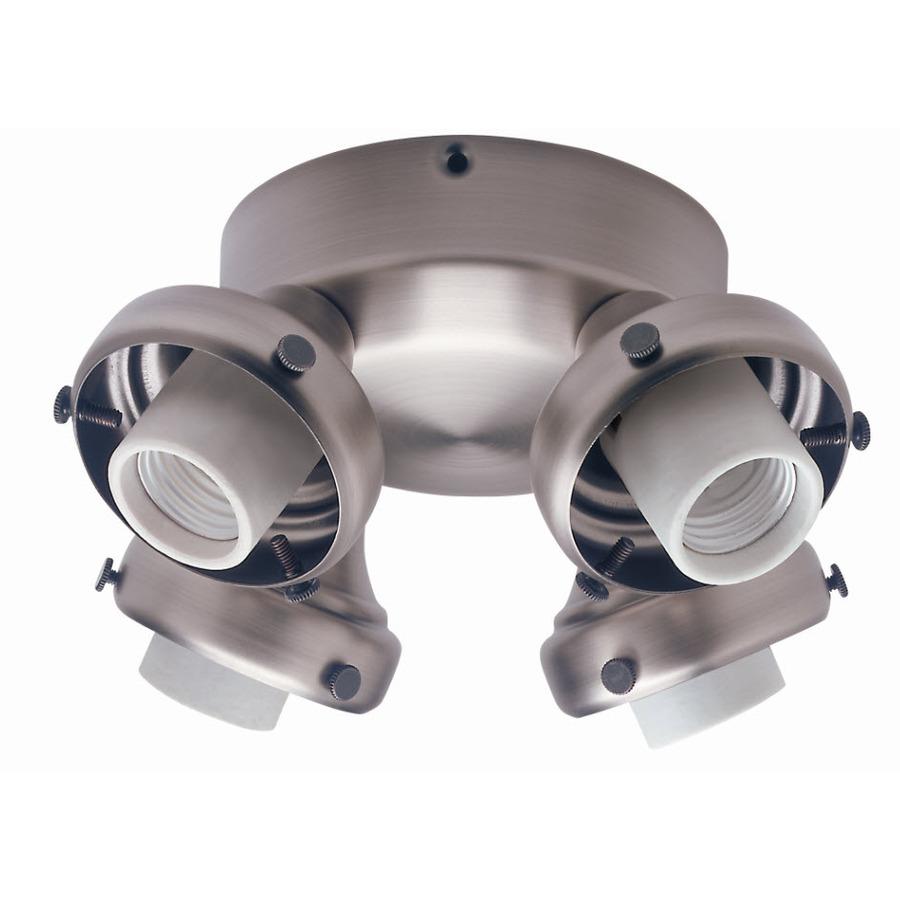 shop hunter 4 light antique pewter ceiling fan light kit at