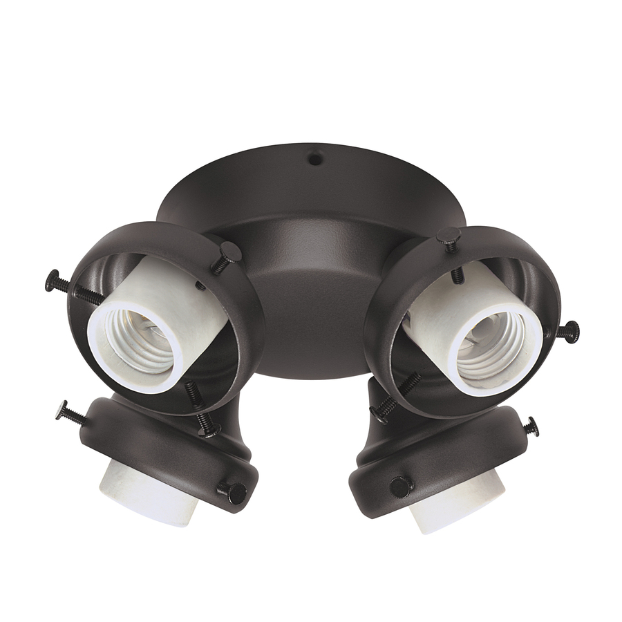 shop hunter 4 light new bronze ceiling fan light kit at