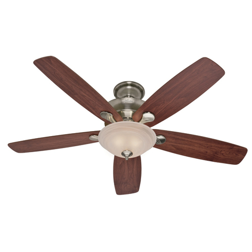 "Zoomed: Hunter 60"" Regalia Brushed Nickel Ceiling Fan"