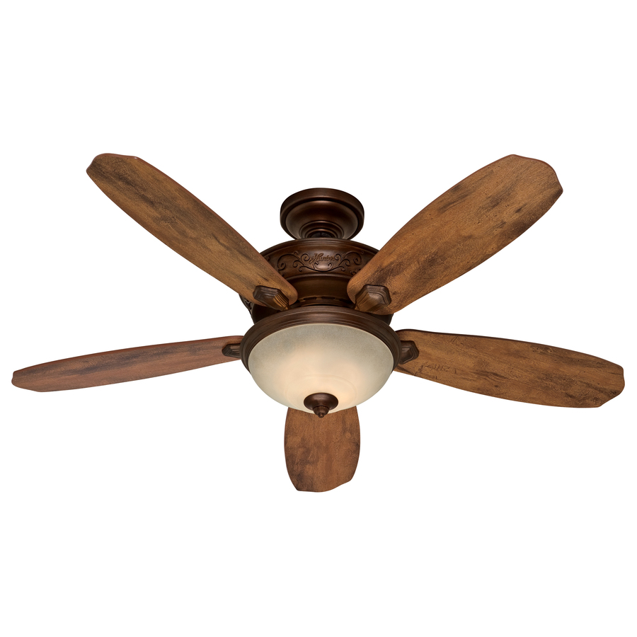 hunter 52 in northern sienna multi position ceiling fan with light kit. Black Bedroom Furniture Sets. Home Design Ideas