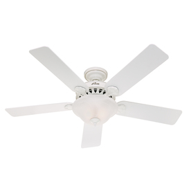 Hunter 52-in 5-Minute Waldon White Ceiling Fan with Light Kit