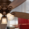 Hunter Wellesley Low Profile 52-in Northern Sienna Flush Mount Ceiling Fan with Light Kit