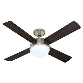 Hunter Arvada LED 52-in Brushed Nickel Downrod Mount Ceiling Fan with LED Light Kit and Remote Control (4-Blade)