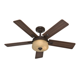 Hunter 52-in Onyx Bengal Bronze Ceiling Fan with Light Kit