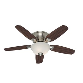 Hunter Small Room 5 Minute 46-in Brushed Nickel Flush Mount Ceiling Fan with Light Kit
