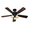 Hunter Rolling Oaks 48-in Midas Black Multi-Position Ceiling Fan with Light Kit