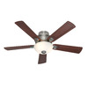 Hunter 52-in Princeton Antique Pewter Ceiling Fan with Light Kit