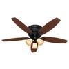 Hunter 52-in Wellesley Basque Black Ceiling Fan with Light Kit