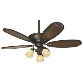Prestige by Hunter 54-in Crown Park Tuscan Gold Ceiling Fan with Light Kit