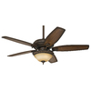 Prestige by Hunter 52-in Claymore Brushed Cocoa Ceiling Fan with Light Kit