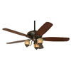 Prestige by Hunter Torrence 64-in Provence Crackle Downrod Mount Indoor Ceiling Fan with Light Kit and Remote