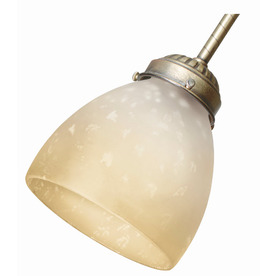Hunter Amber Gradated Round Frosted Glass Shade