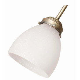 Hunter White Linen Round Frosted Glass Shade