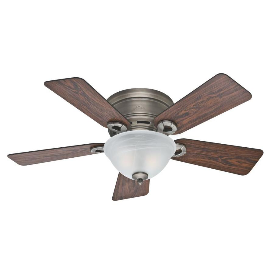 ... in Antique Pewter Flush Mount Ceiling Fan with Light Kit at Lowes.com