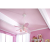 Hunter Dreamland 44-in White and Pink Downrod or Close Mount Indoor Ceiling Fan with Light Kit
