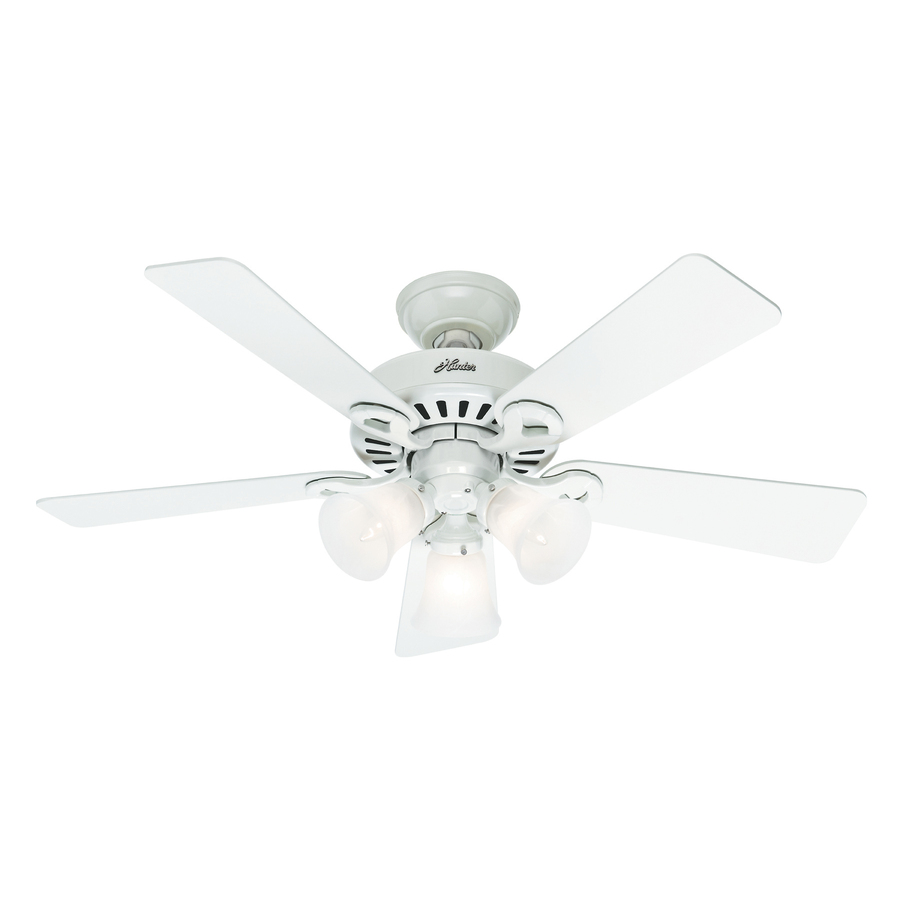 ... ridgefield 5 minute fan 44 in white downrod or flush mount ceiling fan