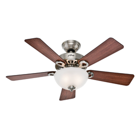 Hunter Ridgefield Bowl 5 Minute Fan 44-in Brushed Nickel Downrod or Close Mount Indoor Ceiling Fan with Light Kit