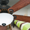 Hunter Ridgefield Bowl 5 Minute Fan 44-in New Bronze Downrod or Close Mount Indoor Ceiling Fan with Light Kit